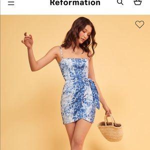 Reformation clothing tie dye dress